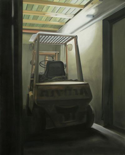Stapler - Öl und Tempera auf Leinwand, 160 x 130 cm, 2008