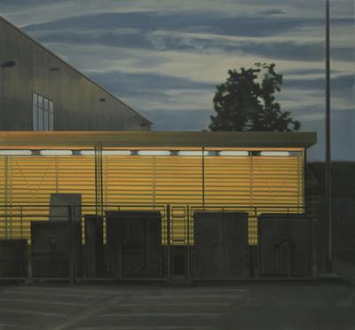 Rampe - Öl und Tempera auf Leinwand, 130 x 140 cm, 2008