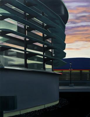 Parkdach - Öl und Tempera auf Leinwand, 120 x 100 cm, 2010
