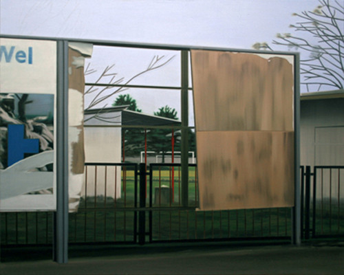 Der Sportplatz - Öl und Tempera auf Leinwand, 120 x 150 cm, 2010
