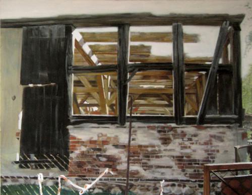 Scheune 2 - Öl und Tempera auf Leinwand, 120 x 150 cm, 2006