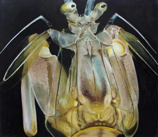 Insekt - Öl und Tempera auf Leinwand, 140 x 160cm, 2004