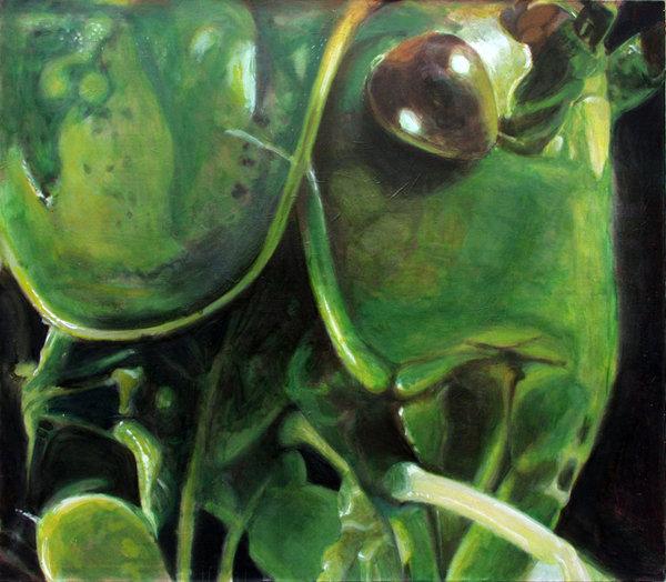 Heuschrecke - Öl und Tempera auf Leinwand, 140 x 160 cm, 2003